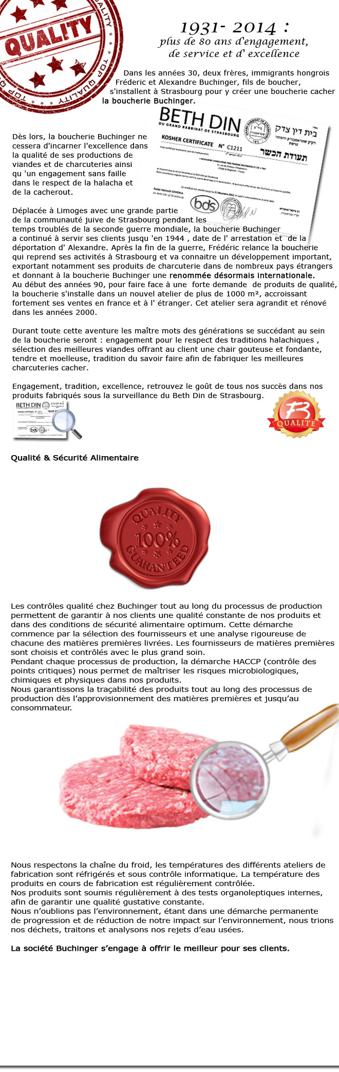 Qualité & Cacherout